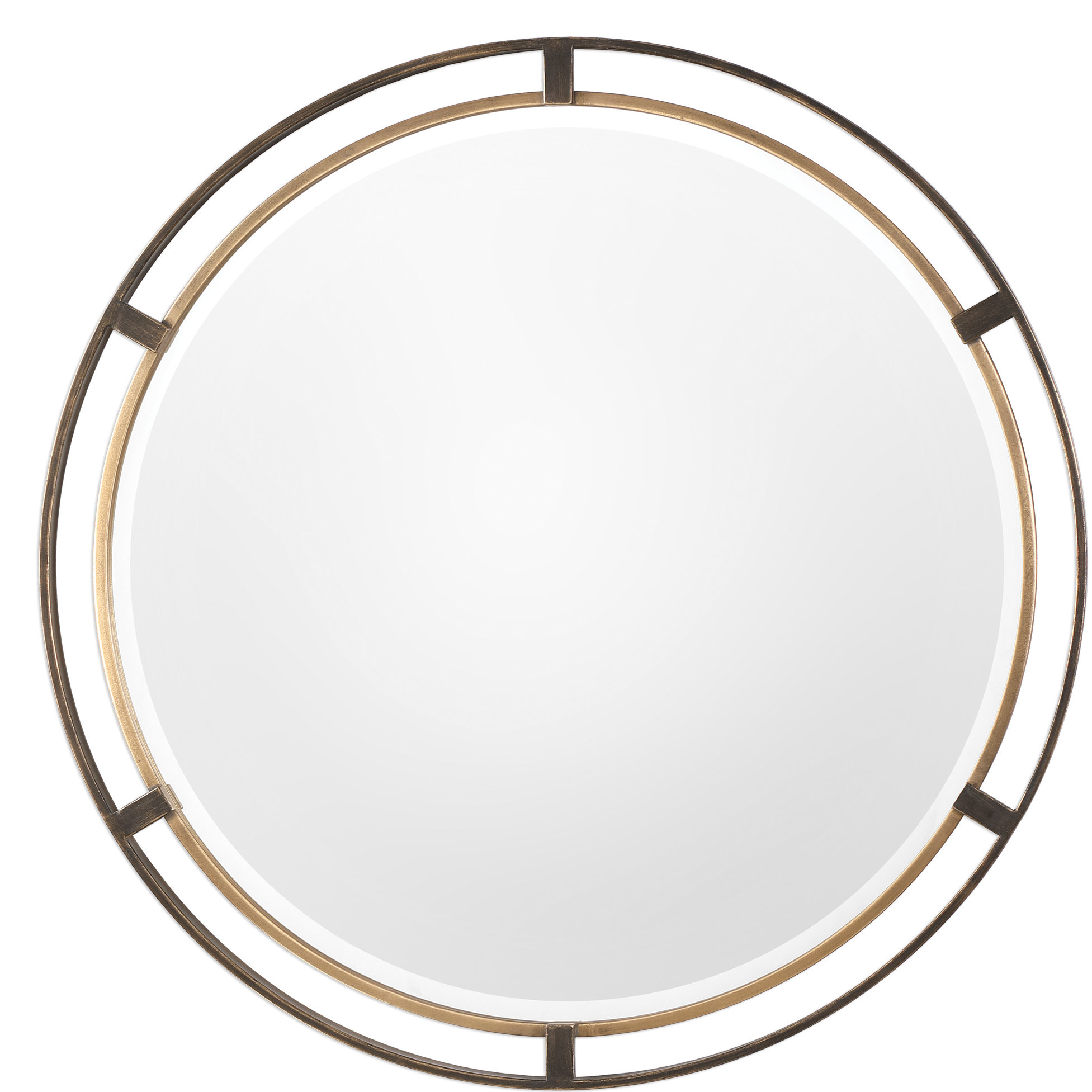 Metal Wall Mirrors You'll Love In 2019 | Wayfair Within Dekalb Modern & Contemporary Distressed Accent Mirrors (Image 10 of 20)