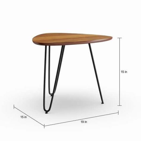 Mid Century Custom Sculptural Side Table Pertaining To Carson Carrington Arendal Guitar Pick Nesting Coffee Tables (View 14 of 25)