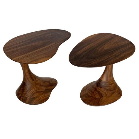 Mid Century Custom Sculptural Side Table Within Carson Carrington Arendal Guitar Pick Nesting Coffee Tables (View 12 of 25)