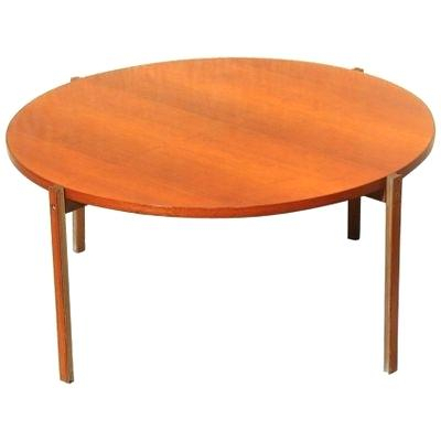 Mid Century Modern Round Coffee Table In Safavieh Mid Century Wynton White Black Lacquer Modern Coffee Tables (Image 13 of 25)