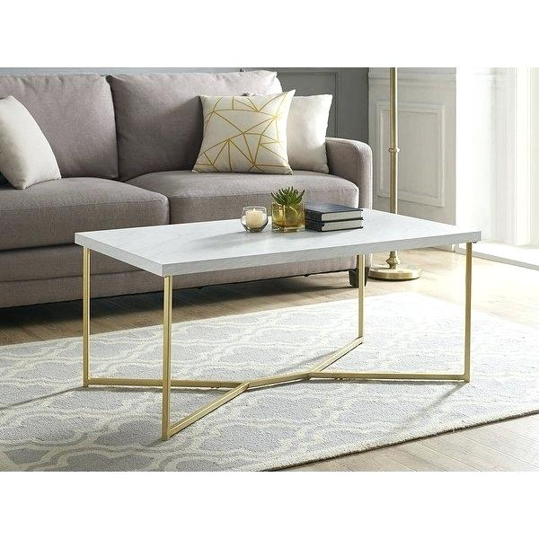 Mid Century Modern White Coffee Table – Ercolimarco With Safavieh Mid Century Wynton White Black Lacquer Modern Coffee Tables (View 4 of 25)
