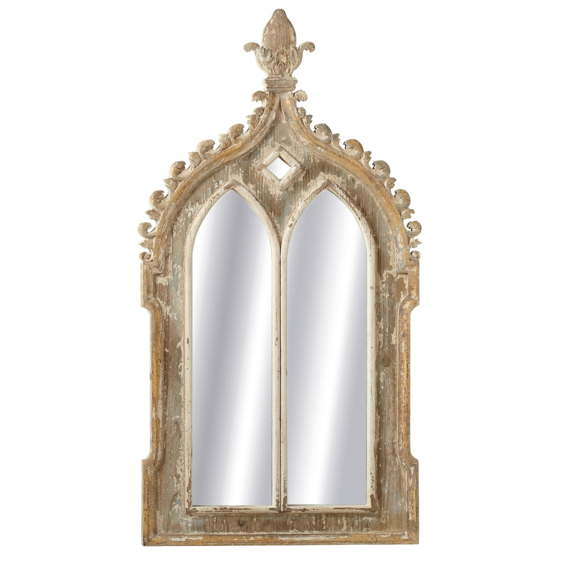 Midwest Cbk Gold Framed Double Arch Wall Mirror In Gold Arch Wall Mirrors (View 11 of 20)