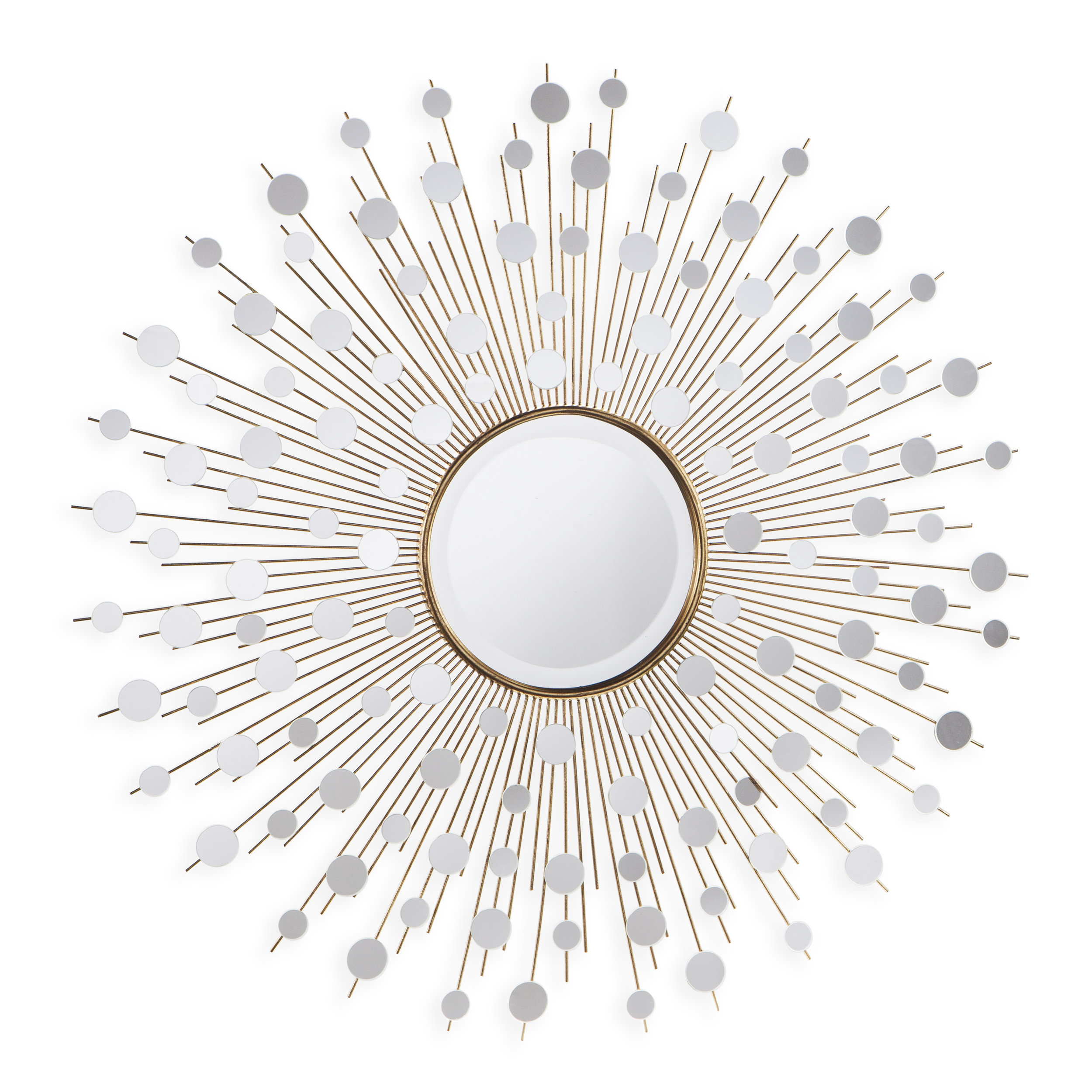 Milivoje Starburst Accent Mirror Within Dandre Wall Mirrors (Image 12 of 20)