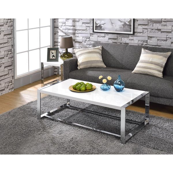 Millenial Collection Lauritz Coffee Table | Overstock With Strick & Bolton Florence Chrome Coffee Tables (Image 5 of 25)