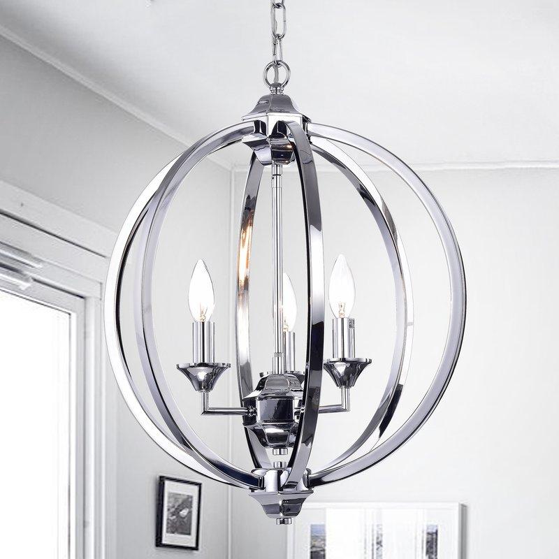 Minneota 3 Light Globe Chandelier Pertaining To Hendry 4 Light Globe Chandeliers (Image 14 of 20)