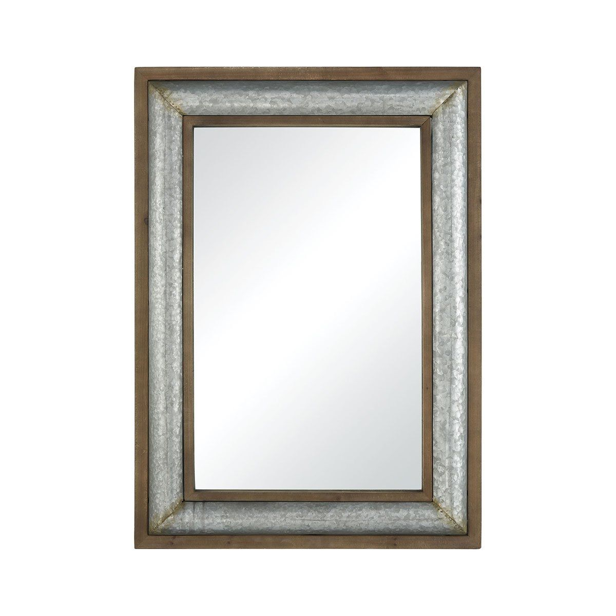 Mirror Beaded 44X56 In 2019 | Mirrors | Mirror, Oversized With Regard To Hogge Modern Brushed Nickel Large Frame Wall Mirrors (View 4 of 20)