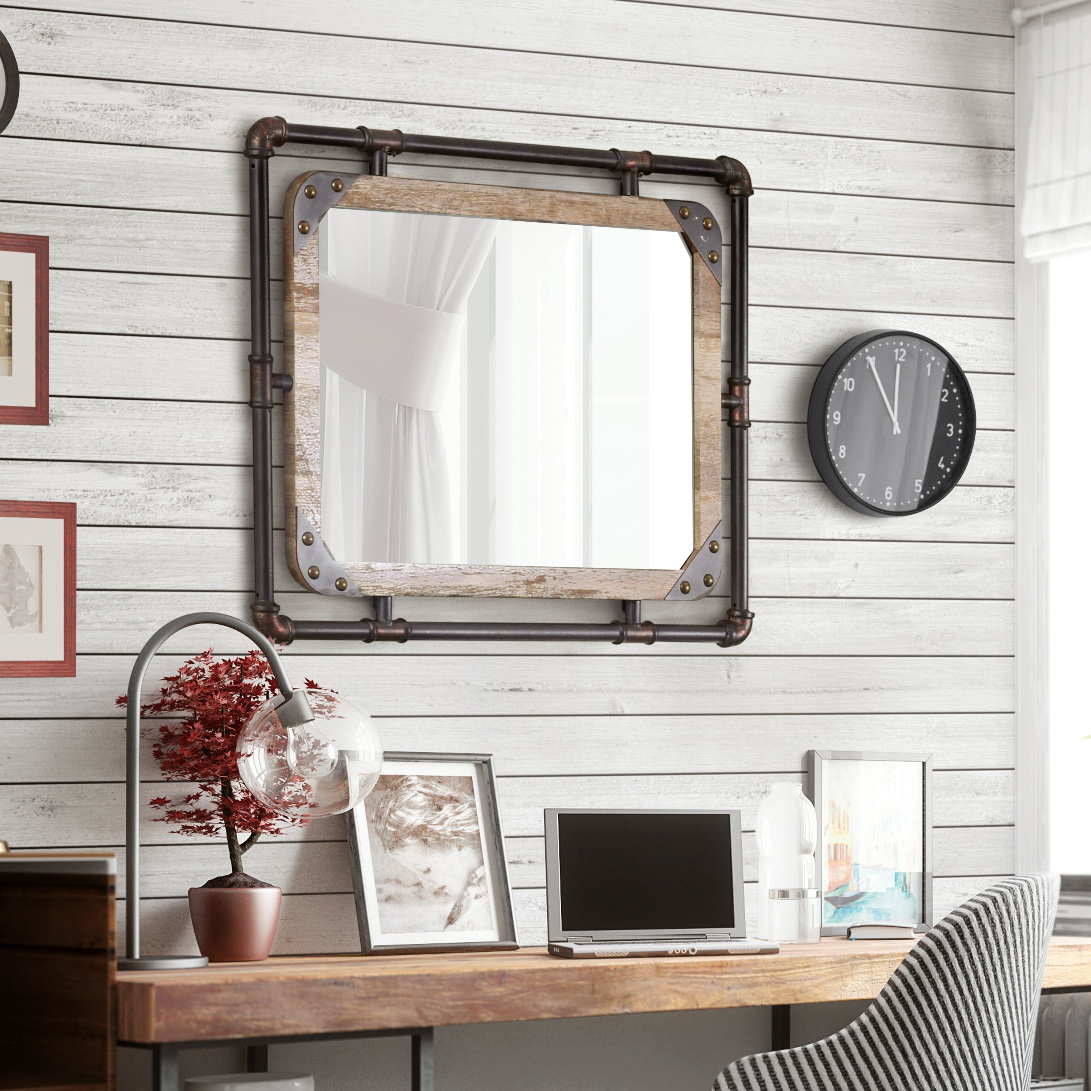 Mirrors | Shop Online At Overstock Regarding Rectangle Ornate Geometric Wall Mirrors (Photo 10 of 20)
