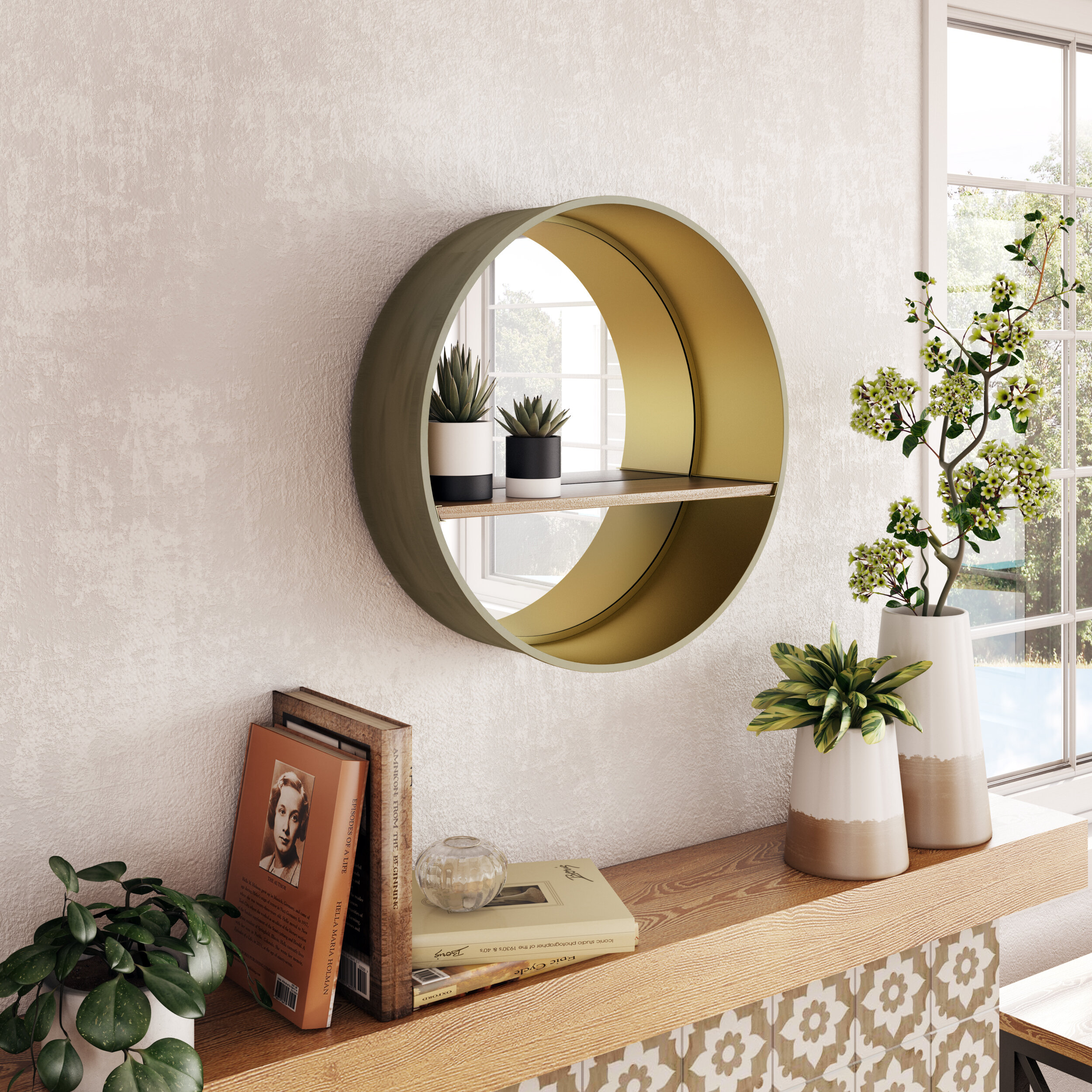 Mirrors With Shelves & Drawers You'll Love In 2019 | Wayfair (Image 15 of 20)