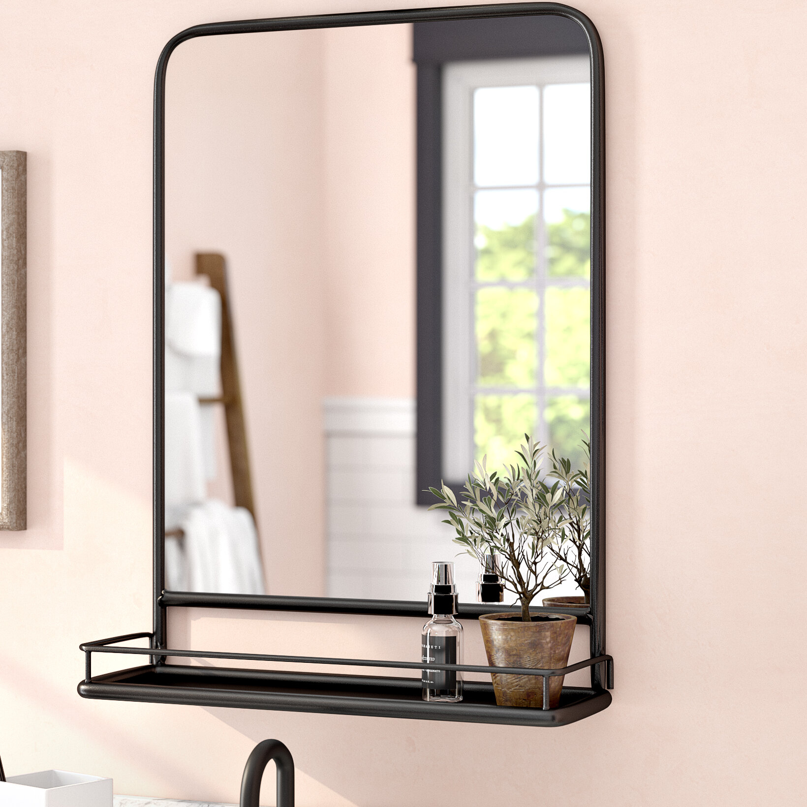 Mirrors With Shelves & Drawers You'll Love In 2019 | Wayfair With Regard To Hallas Wall Organizer Mirrors (Image 13 of 20)