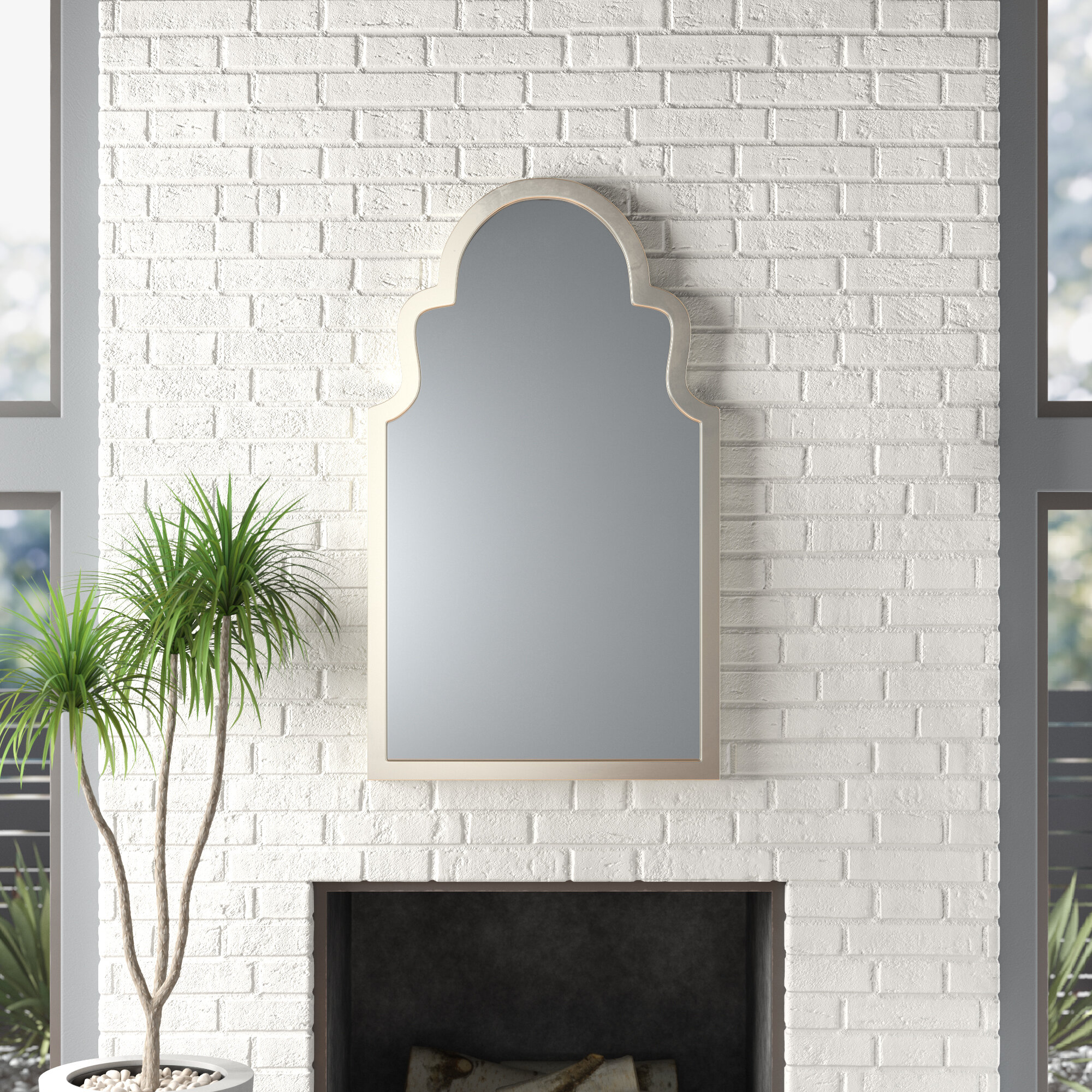Modern Arch / Crowned Top Wall Mirrors | Allmodern Pertaining To Dariel Tall Arched Scalloped Wall Mirrors (Image 13 of 20)