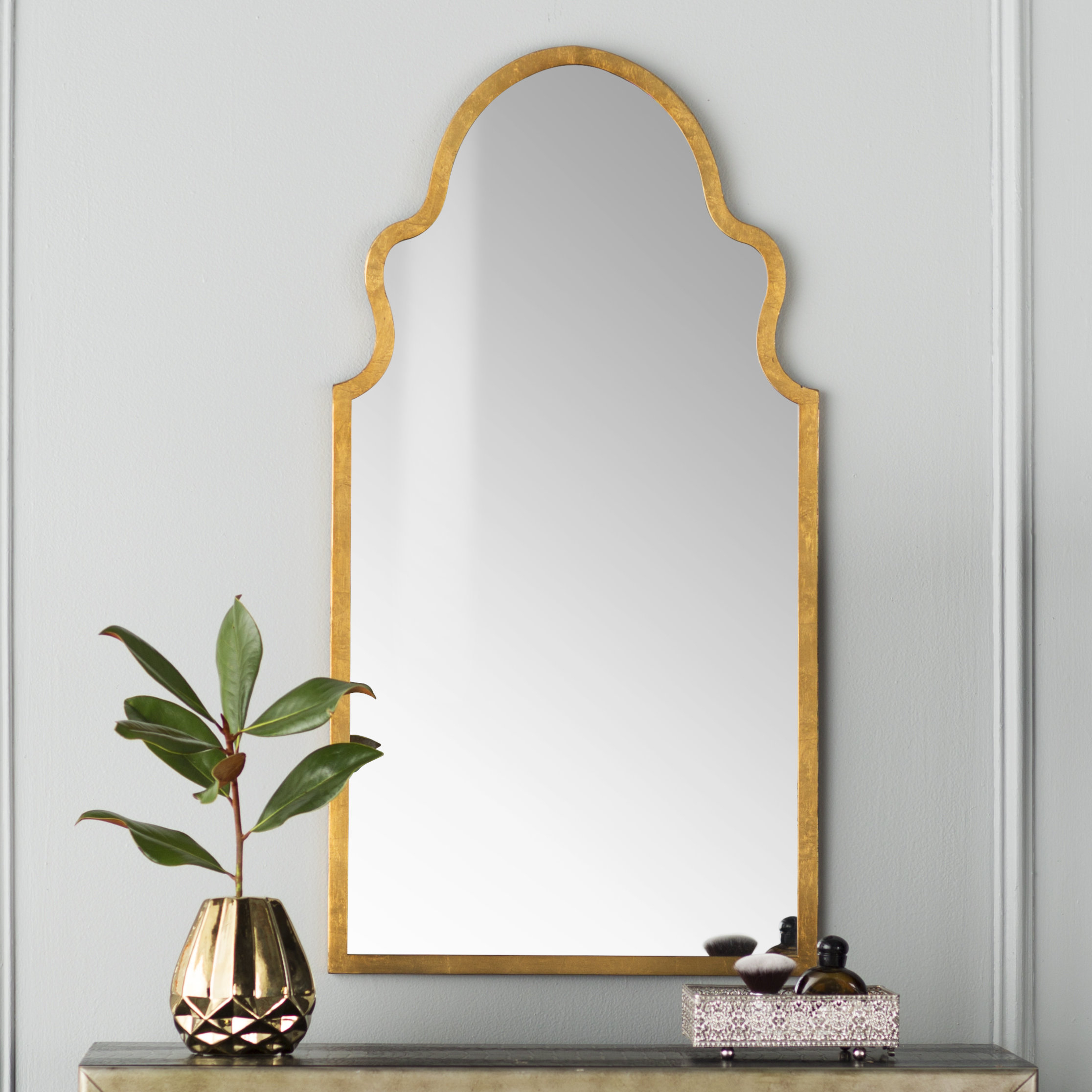 Modern Arch / Crowned Top Wall Mirrors | Allmodern Throughout Ekaterina Arch/crowned Top Wall Mirrors (Image 18 of 20)