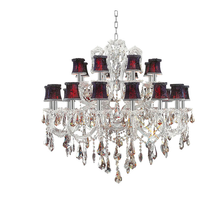 Modern Candle Czech Republic Crystal Chandelier Maria Inside Thresa 5 Light Shaded Chandeliers (View 8 of 20)
