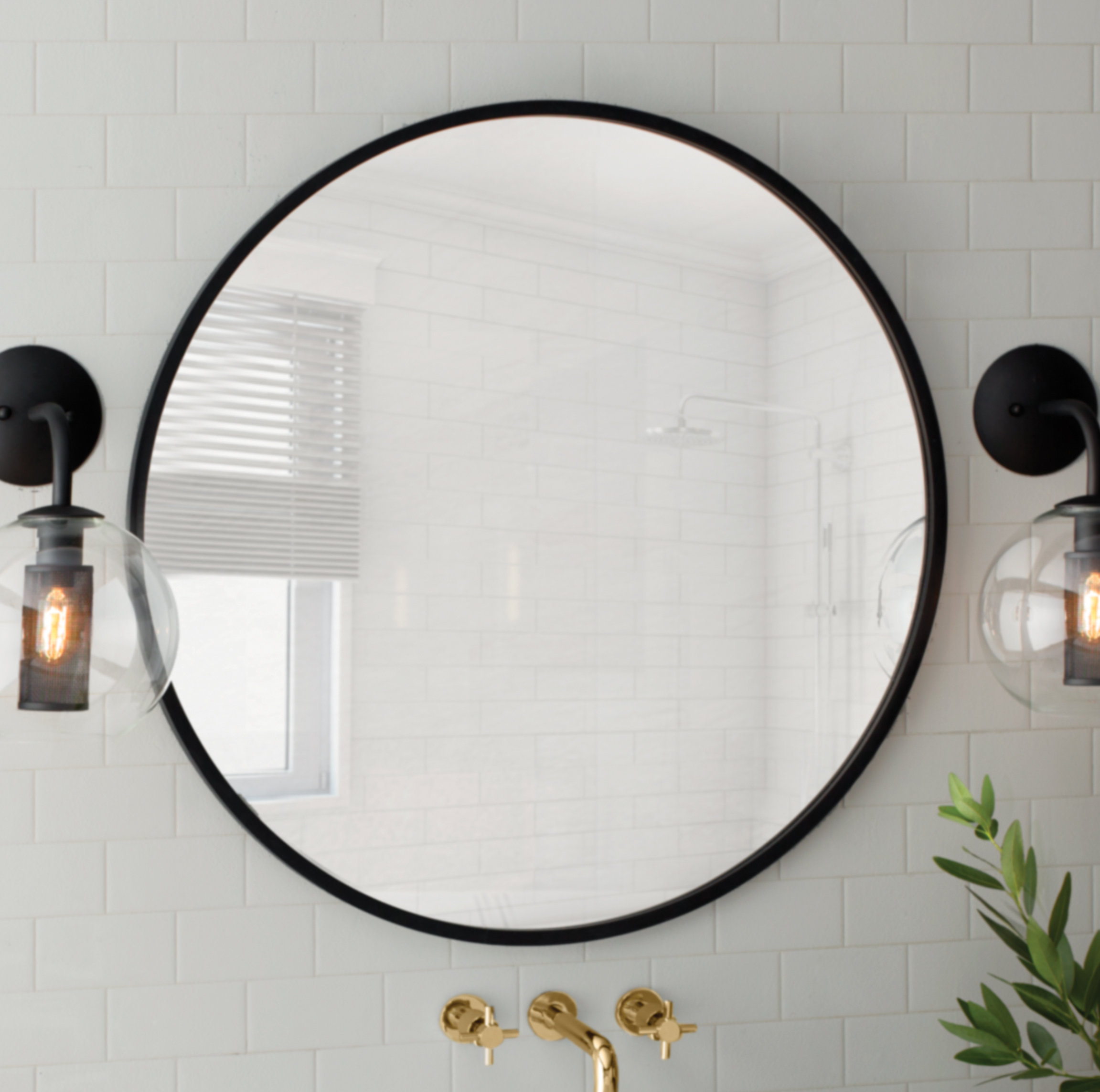 Modern & Contemporary 40 Inch Round Mirror | Allmodern Throughout Celeste Frameless Round Wall Mirrors (View 14 of 20)