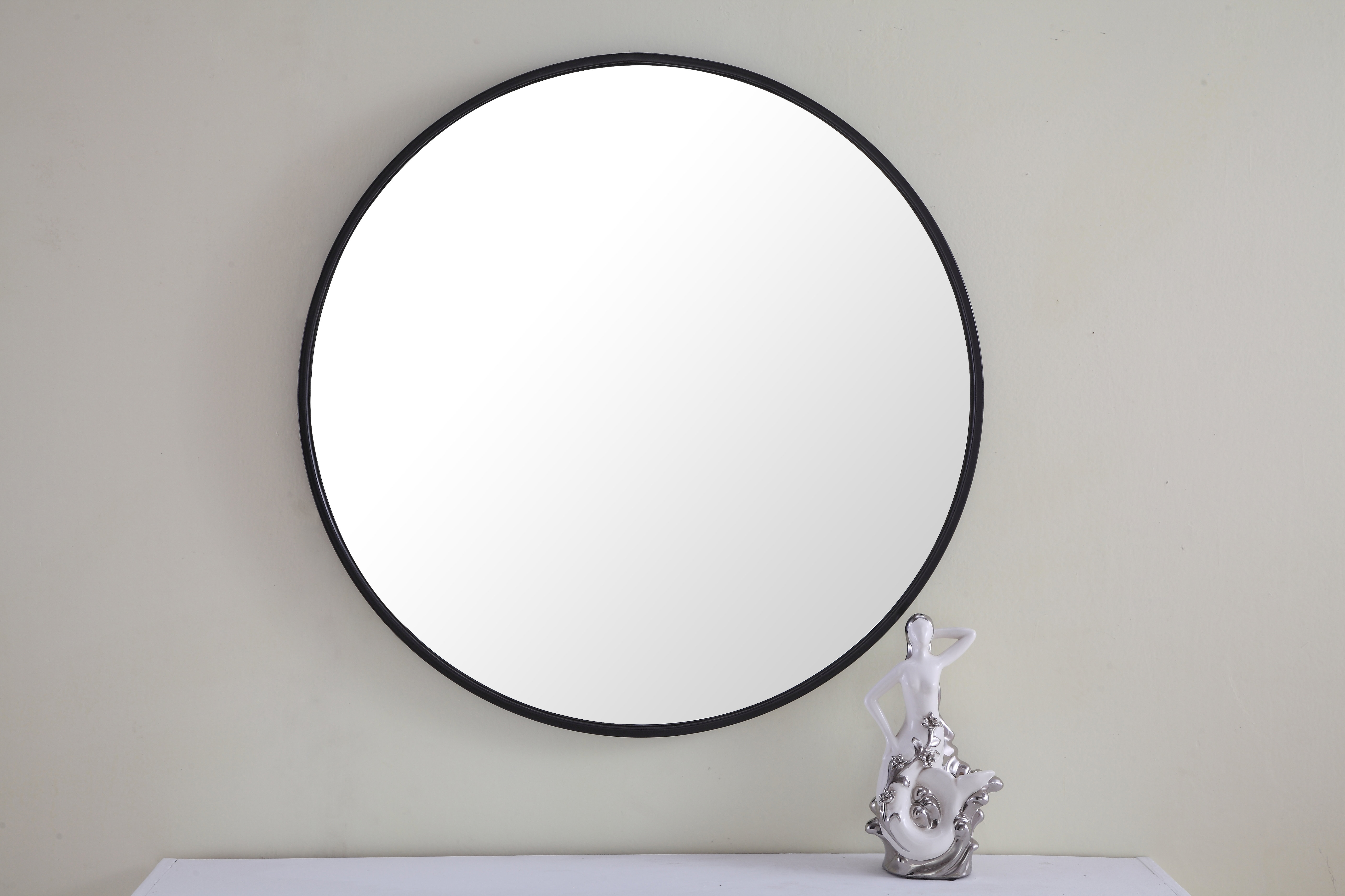 Modern & Contemporary 42 Inch Round Mirror | Allmodern Inside Round Eclectic Accent Mirrors (Image 9 of 20)