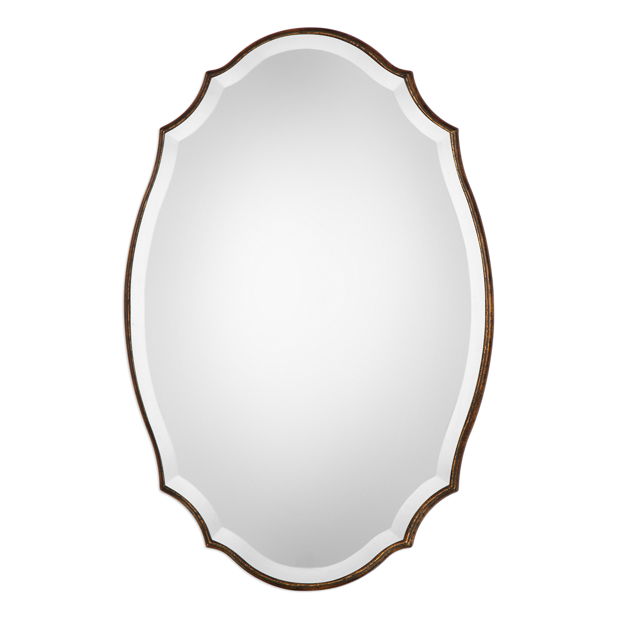 Modern & Contemporary Beveled Accent Mirror Inside Egor Accent Mirrors (Image 15 of 20)