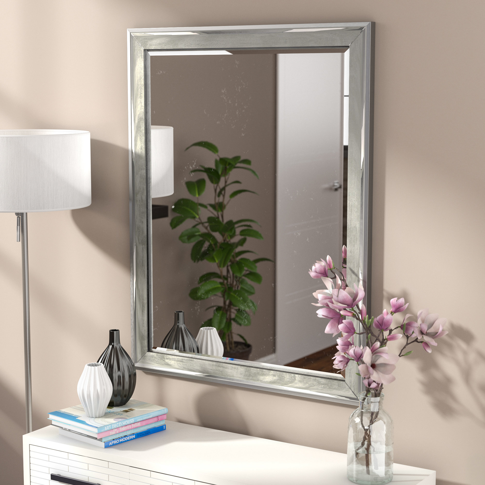 Featured Image of Modern & Contemporary Beveled Overmantel Mirrors