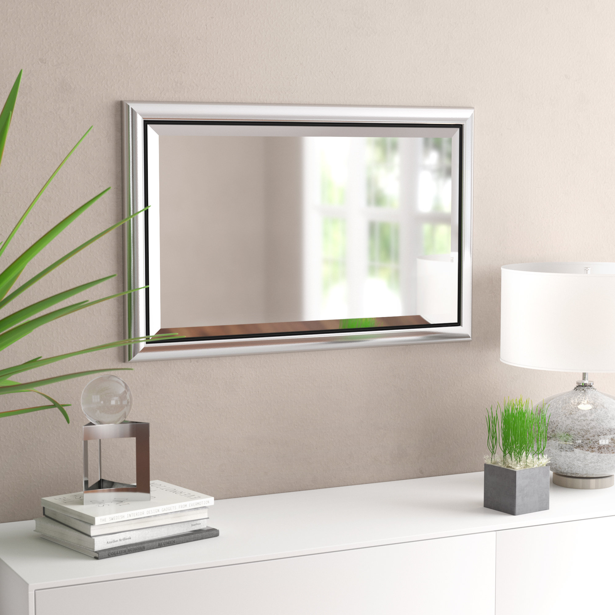 Modern & Contemporary Beveled Rectangle Accent Mirror Within Rectangle Accent Mirrors (View 15 of 20)