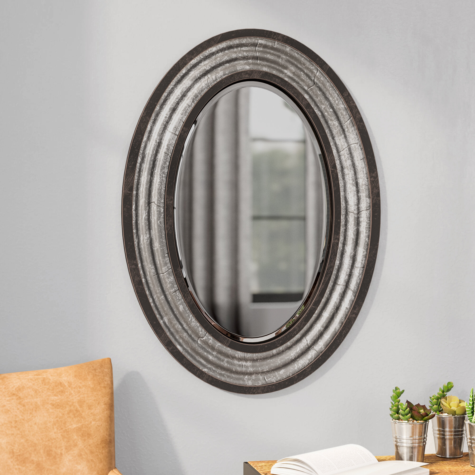 Modern & Contemporary Beveled Wall Mirror Intended For Industrial Modern & Contemporary Wall Mirrors (View 3 of 20)
