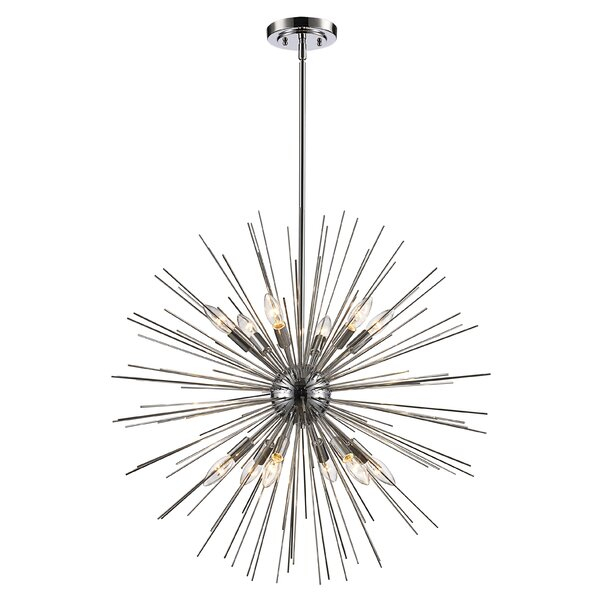 Modern & Contemporary Byler 12 Light | Allmodern With Regard To Vroman 12 Light Sputnik Chandeliers (Image 13 of 20)