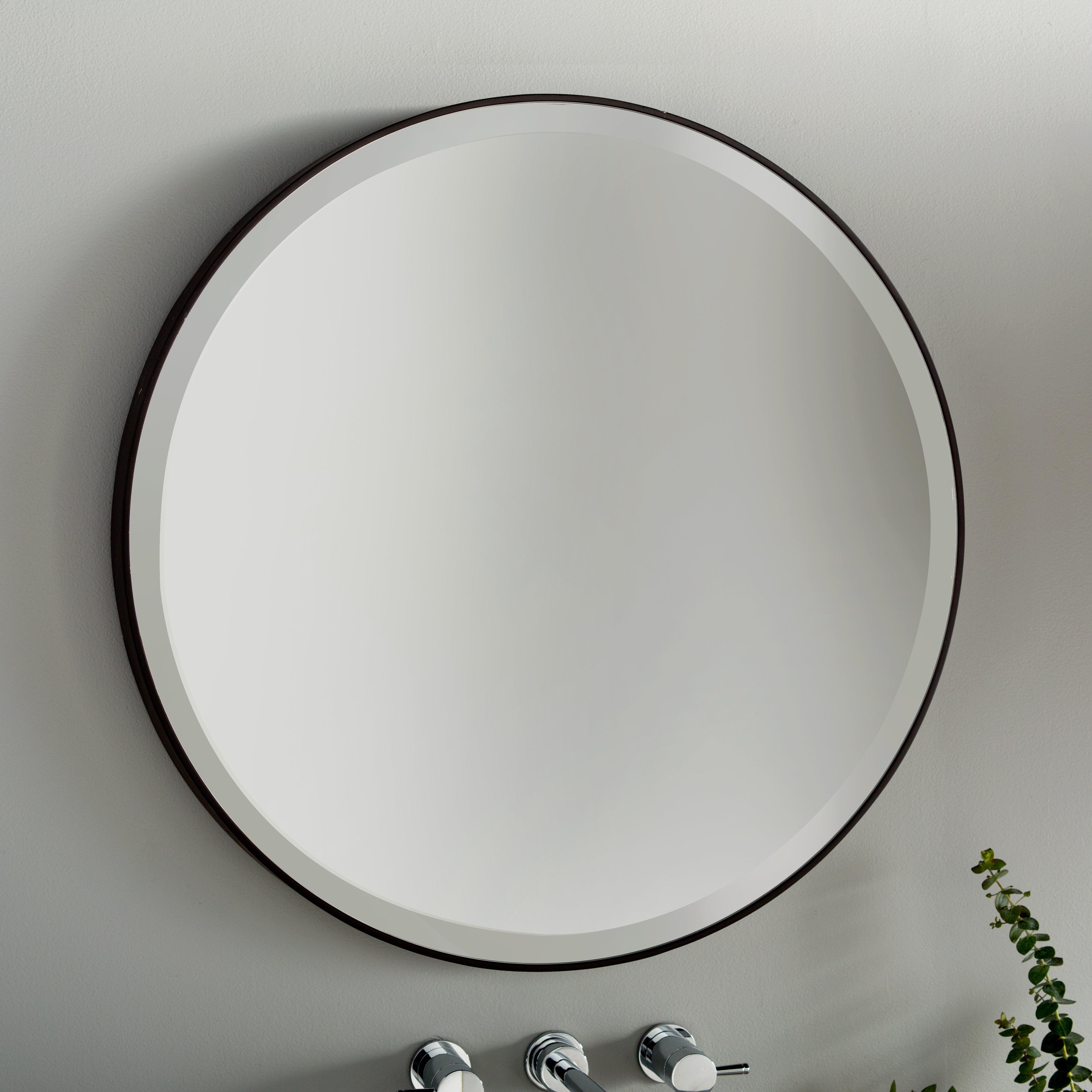 Modern & Contemporary Diamond Wall Mirror | Allmodern In Traditional Frameless Diamond Wall Mirrors (Image 14 of 20)