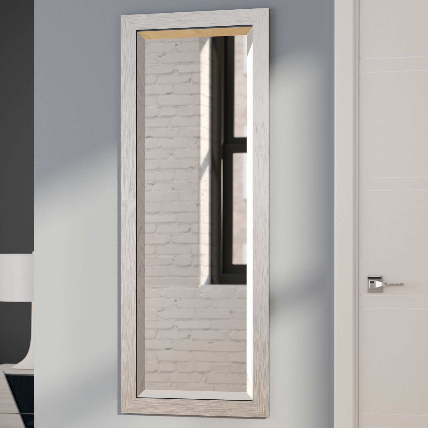 Modern & Contemporary Full Length Beveled Wall Mirror Intended For Modern & Contemporary Full Length Mirrors (Photo 2 of 20)
