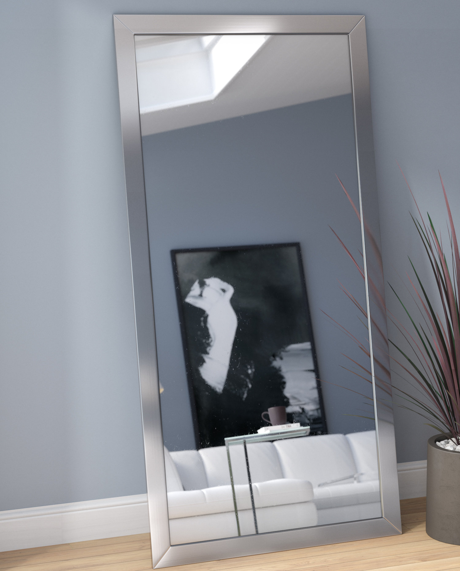 Modern & Contemporary Full Length Wall Mirror Regarding Modern & Contemporary Full Length Mirrors (Photo 6 of 20)