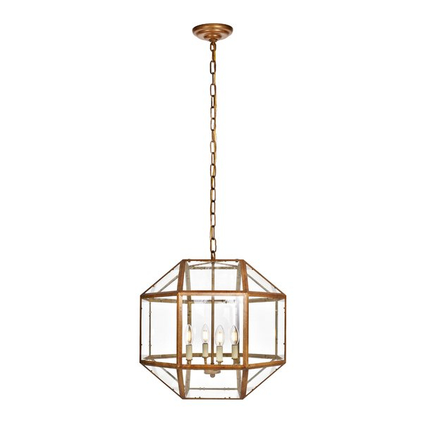 Modern & Contemporary Geometric Cage Chandelier | Allmodern With Regard To Cavanagh 4 Light Geometric Chandeliers (View 20 of 20)