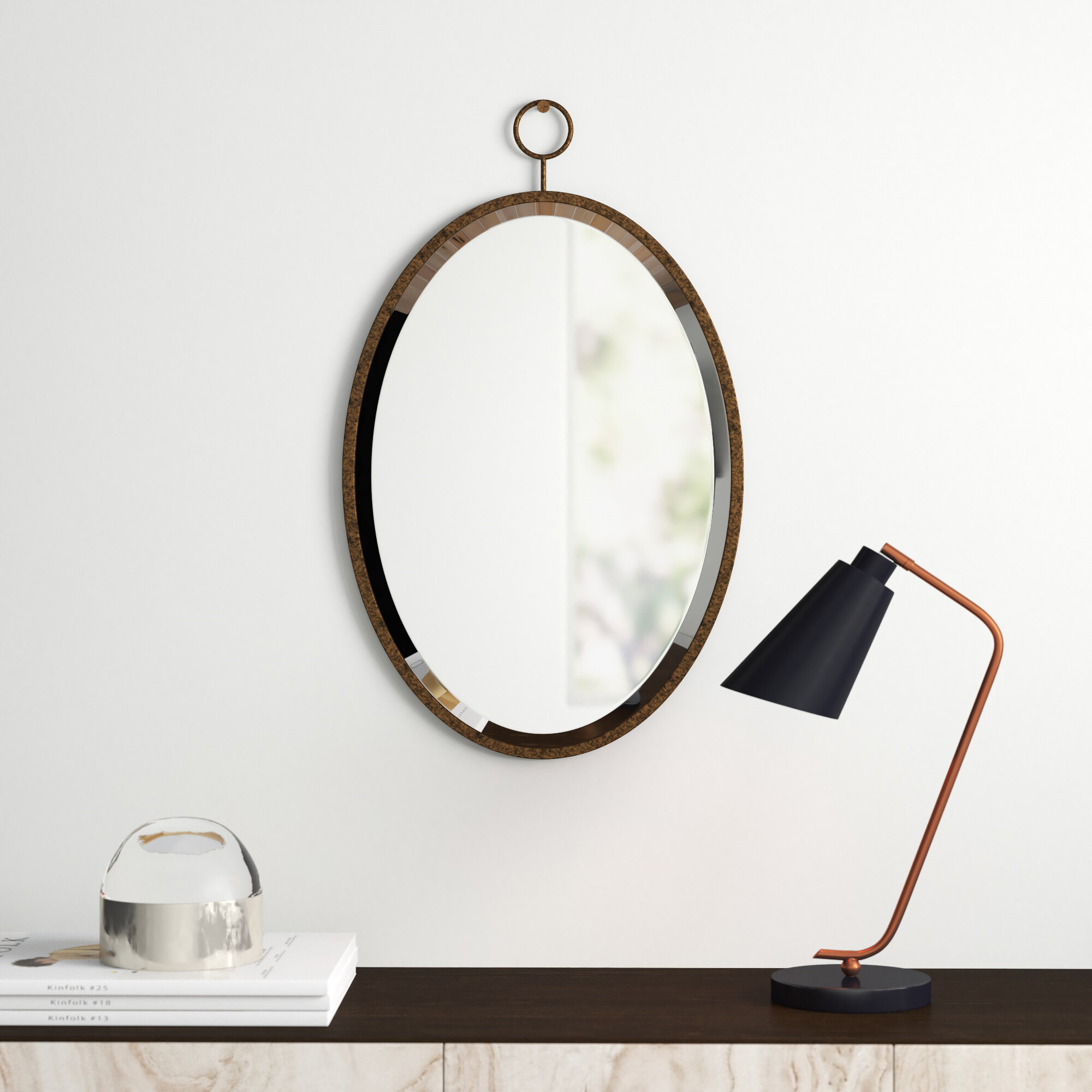 Modern & Contemporary Modern Mirrors | Allmodern Intended For Mahanoy Modern And Contemporary Distressed Accent Mirrors (Image 14 of 20)