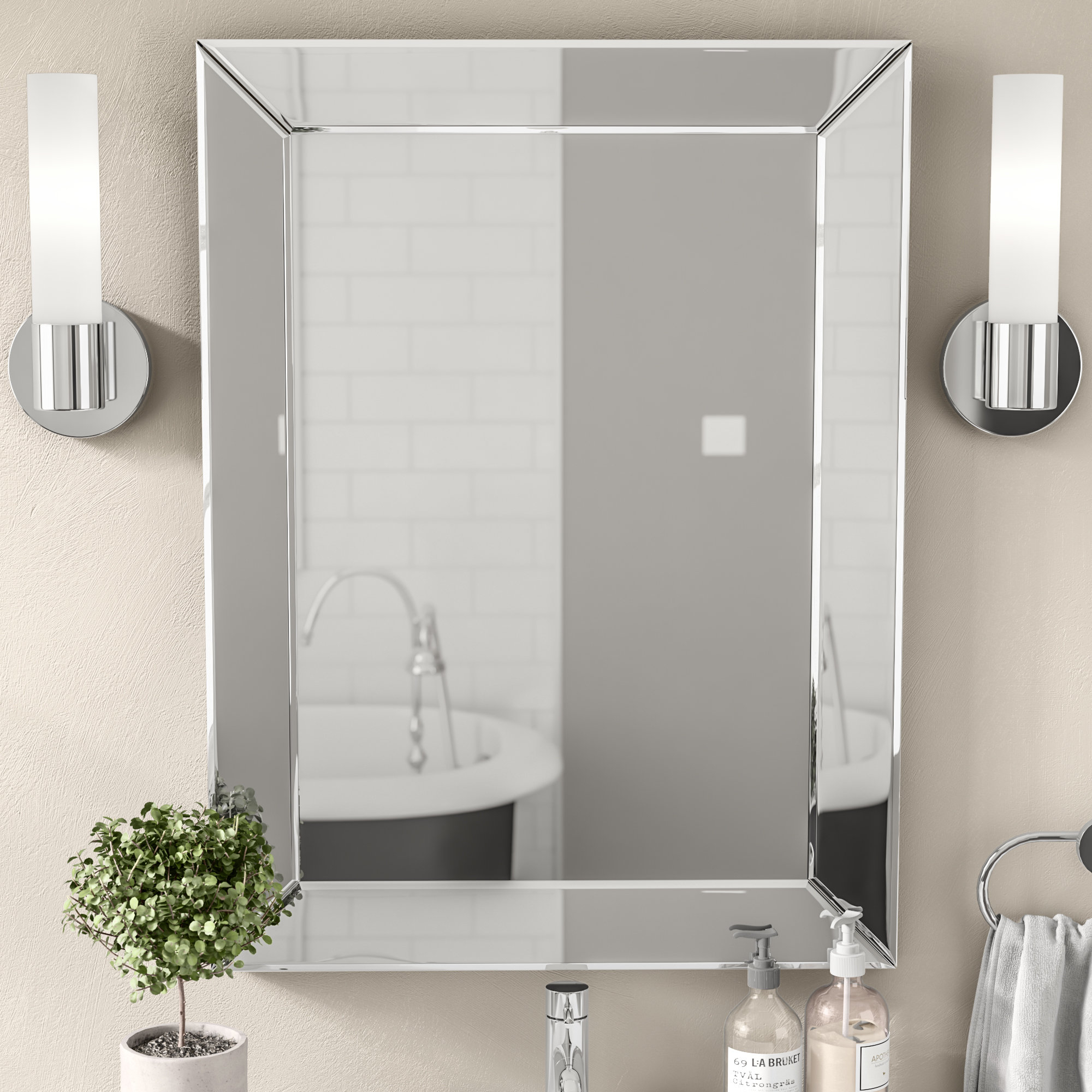 Modern & Contemporary Rattan Rectangular Mirror | Allmodern With Janie Rectangular Wall Mirrors (Image 10 of 20)