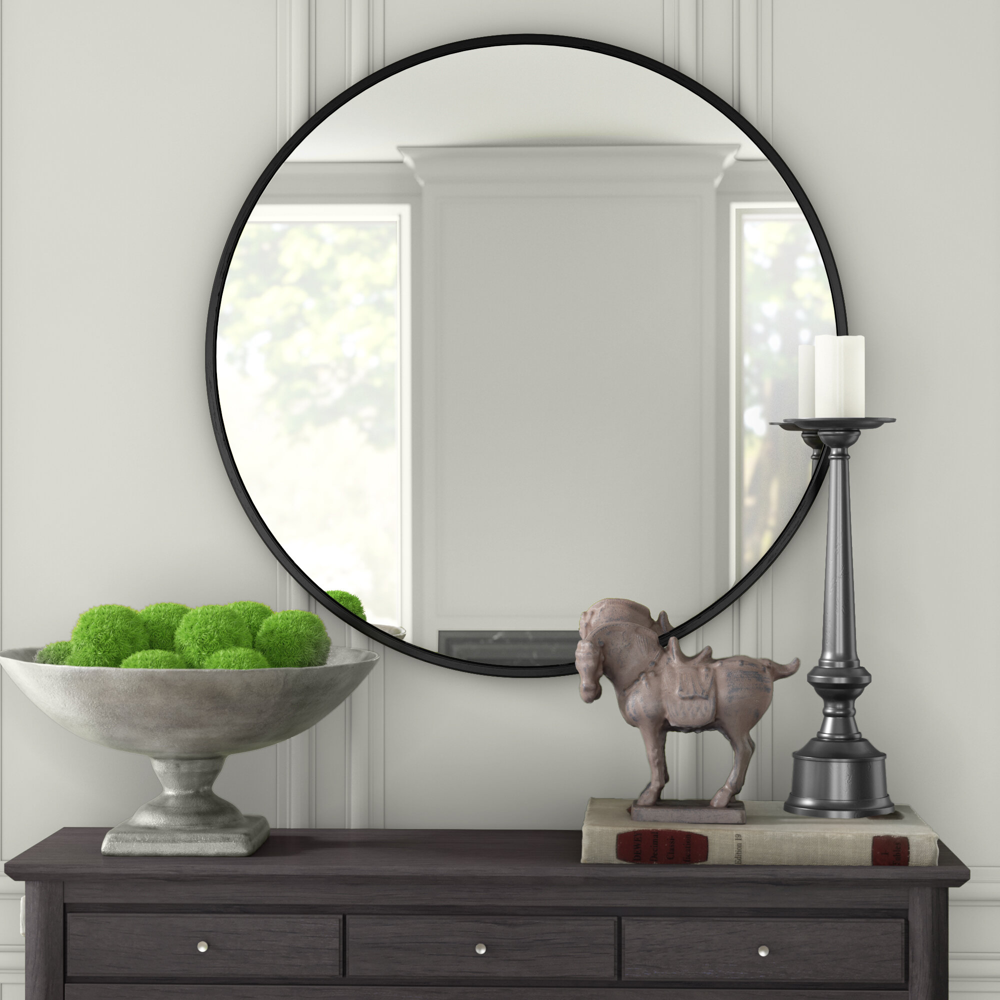 Modern & Contemporary Round Mirrors You'll Love In 2019 Throughout Loftis Modern & Contemporary Accent Wall Mirrors (View 19 of 20)