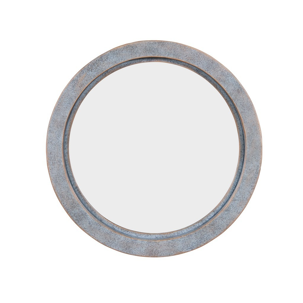 Modern Industrial Floating Round 20 Inch Wall Mirror With Antiqued Copper Metal Frame – Contemporary Framed Hanging Mirror Pertaining To Industrial Modern & Contemporary Wall Mirrors (View 9 of 20)