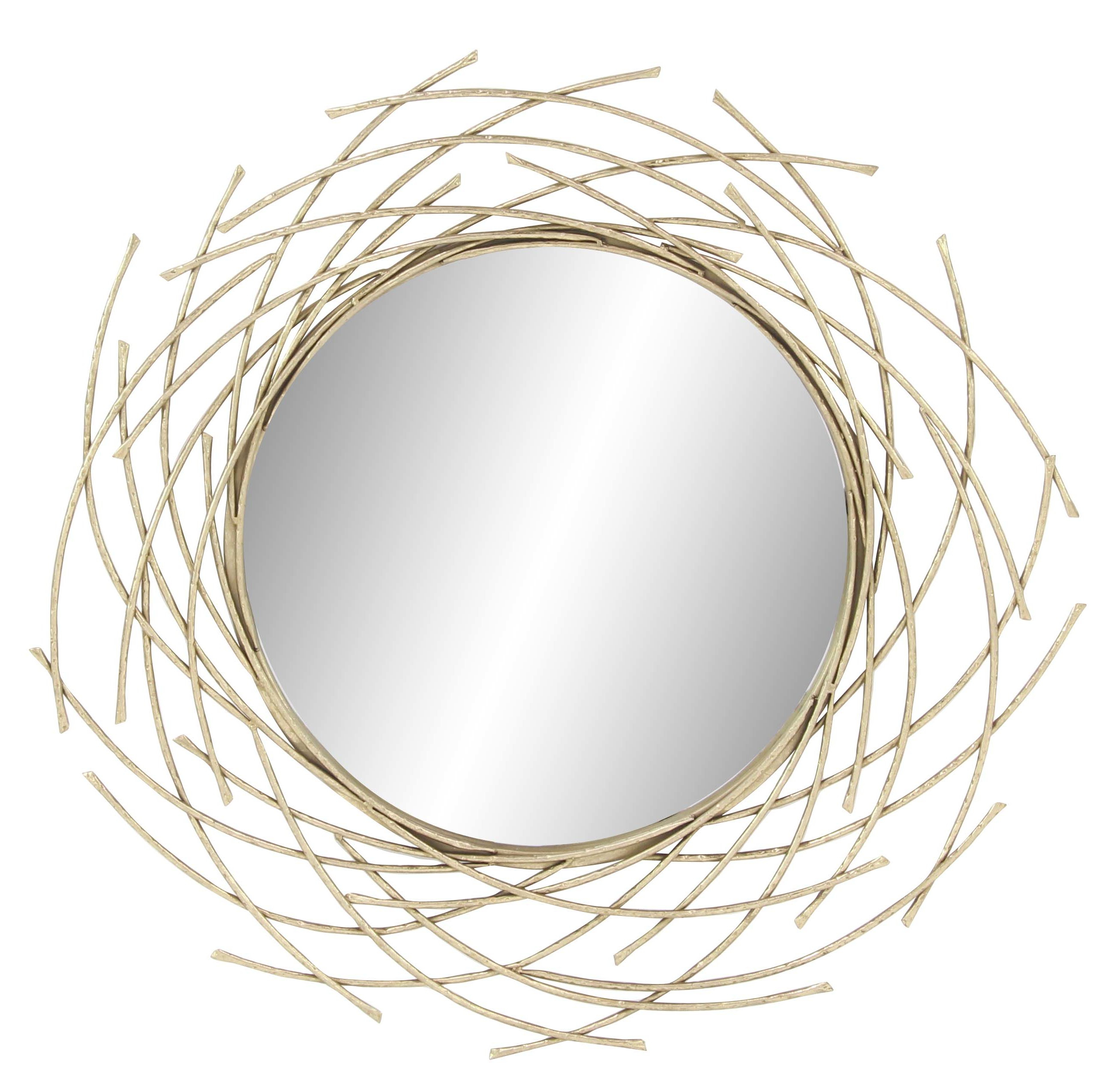 Modern Overlapping Arc Accent Mirror With Regard To Knott Modern & Contemporary Accent Mirrors (Image 18 of 20)