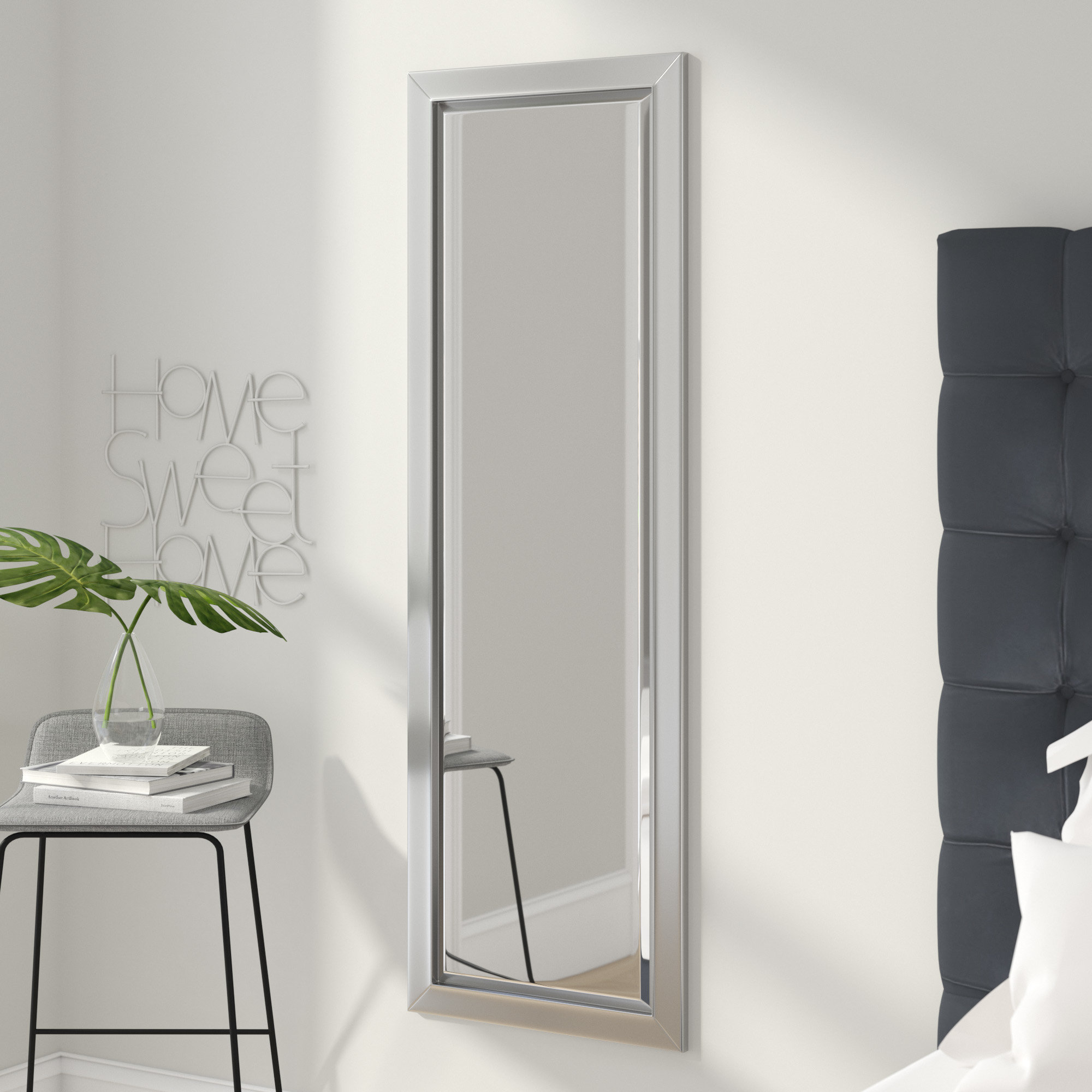 Modern Rectangle Bathroom Mirrors | Allmodern Inside Hilde Traditional Beveled Bathroom Mirrors (Image 16 of 20)