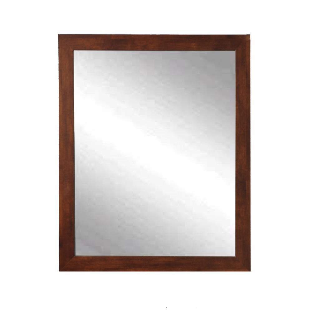 Modern Rectangle Mocha Brown Wall Mirror Regarding Modern Rectangle Wall Mirrors (View 5 of 20)