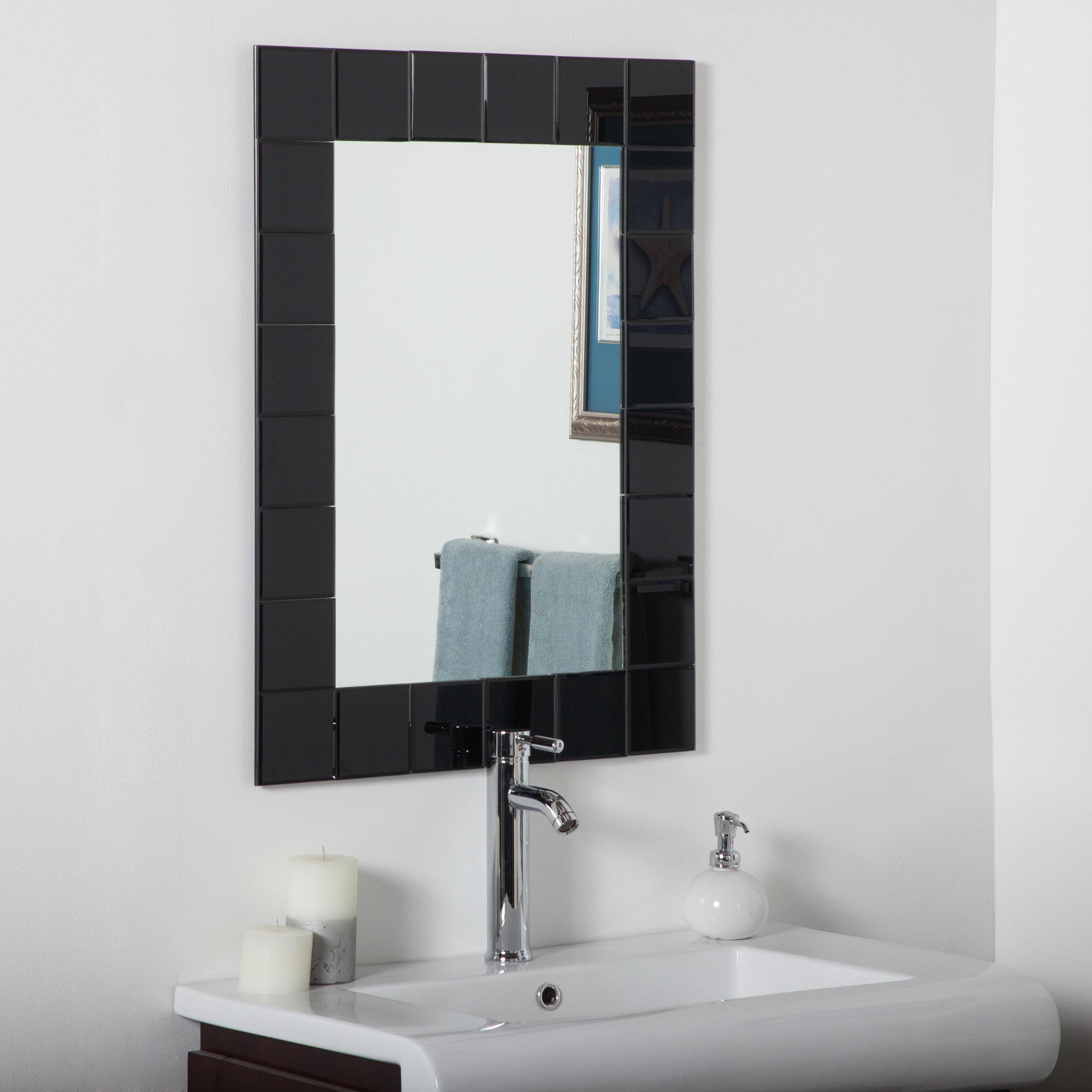 Modern Rectangle Wall Mirror Inside Estefania Frameless Wall Mirrors (Photo 7 of 20)
