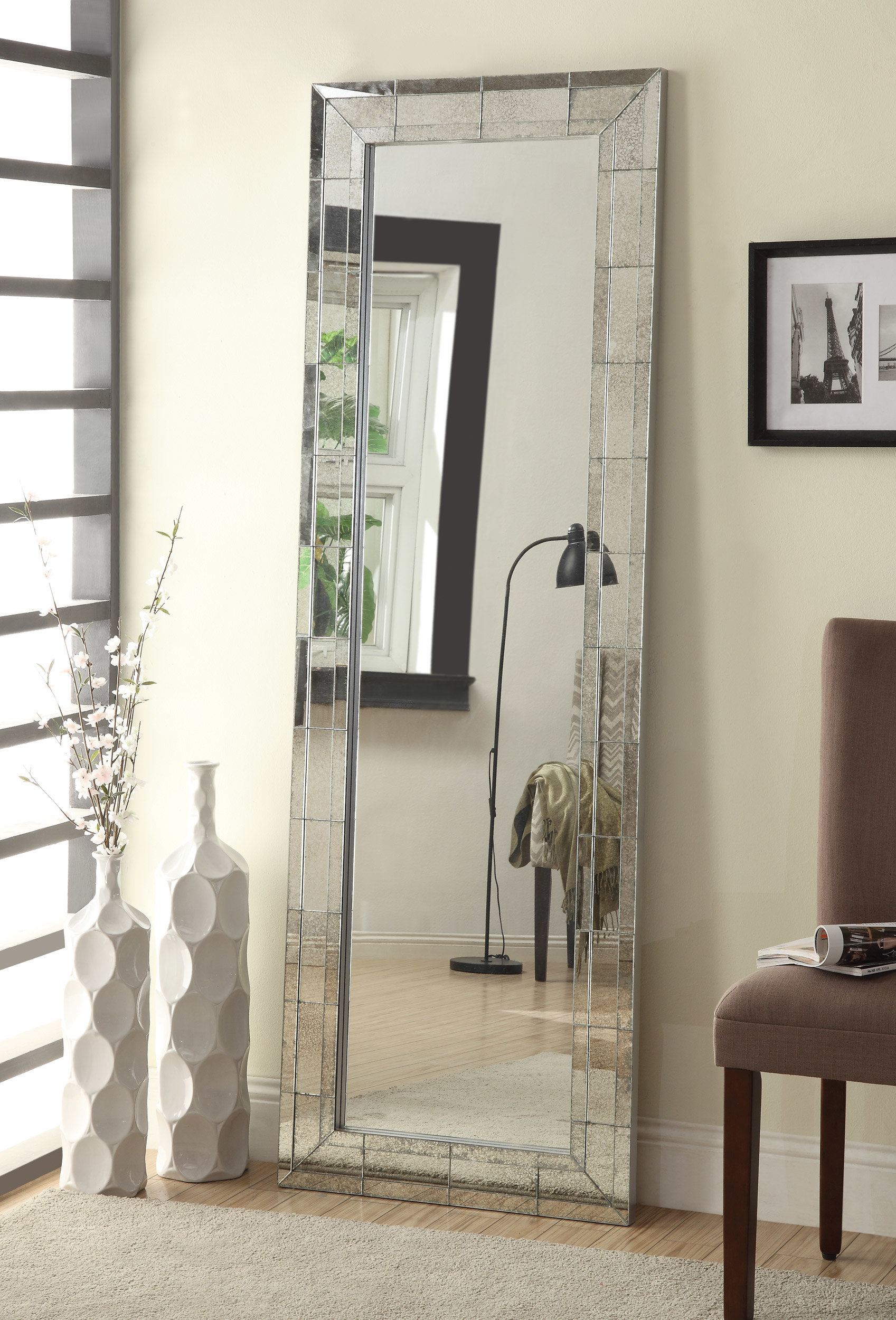 Modern Silver Full Length Mirrors | Allmodern Pertaining To Dalessio Wide Tall Full Length Mirrors (Image 16 of 20)