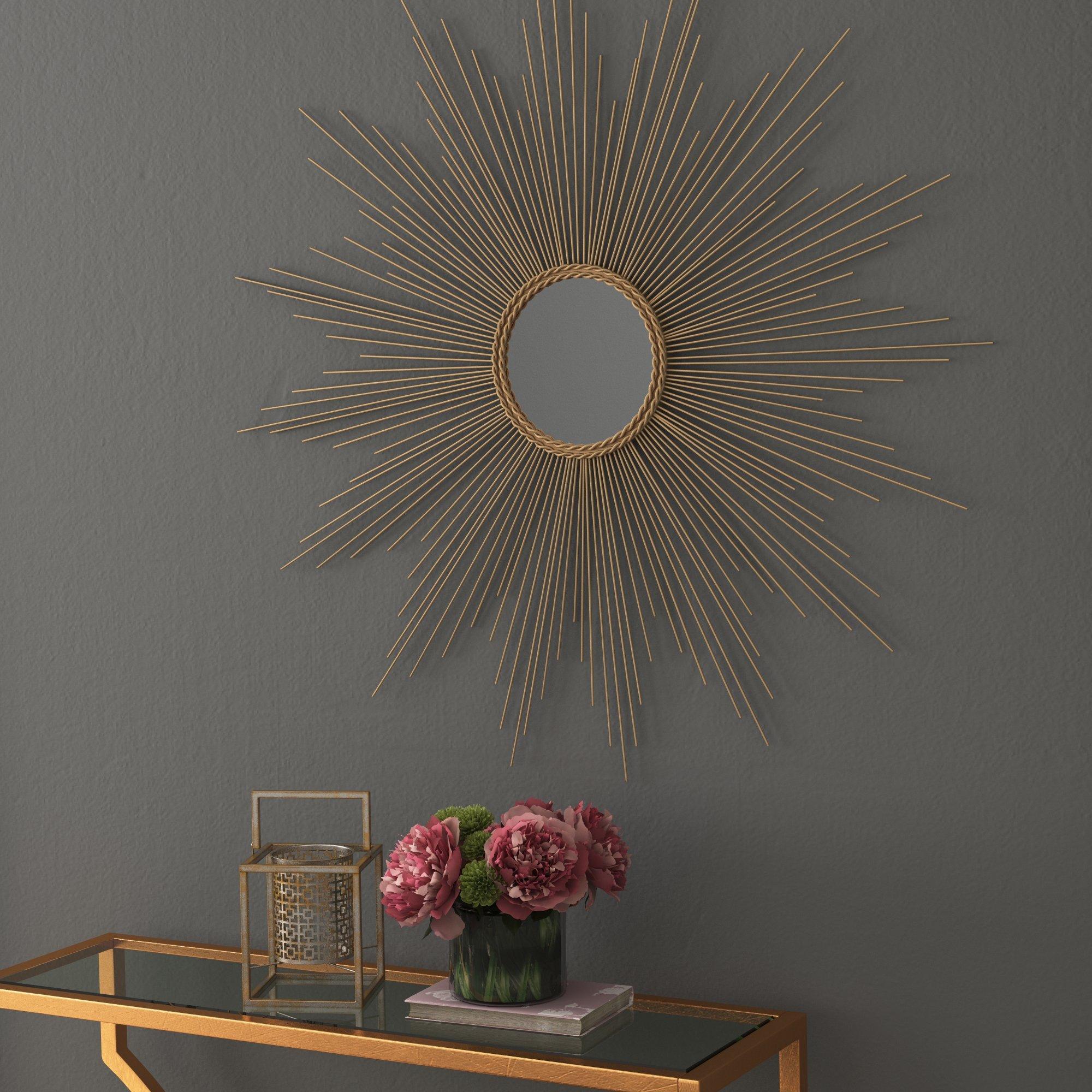 Modern Sunburst Mirrors | Allmodern With Regard To Jarrod Sunburst Accent Mirrors (Image 15 of 20)