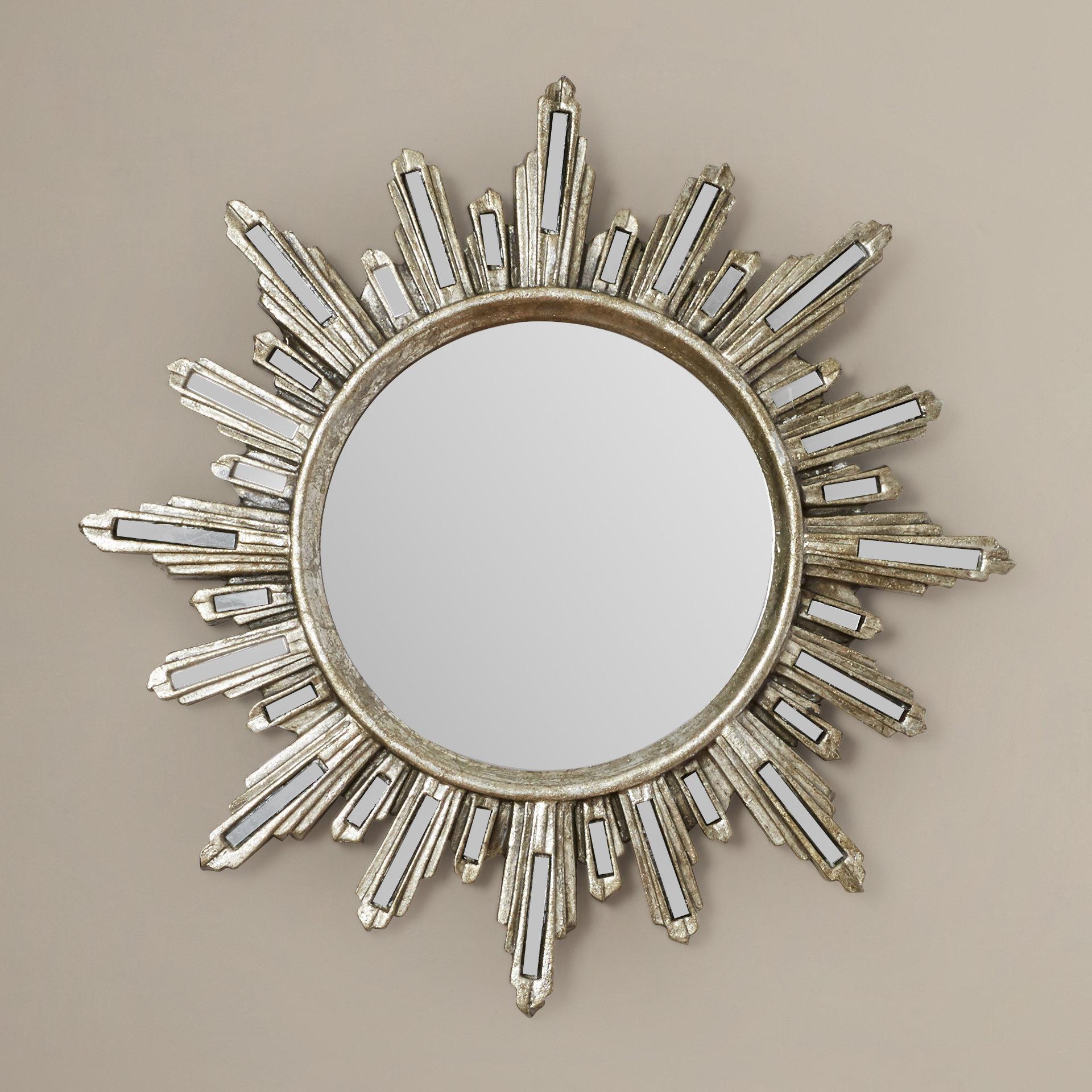 Modern Sunburst Wall Mounted Wall & Accent Mirrors | Allmodern Within Newtown Accent Mirrors (Image 11 of 20)