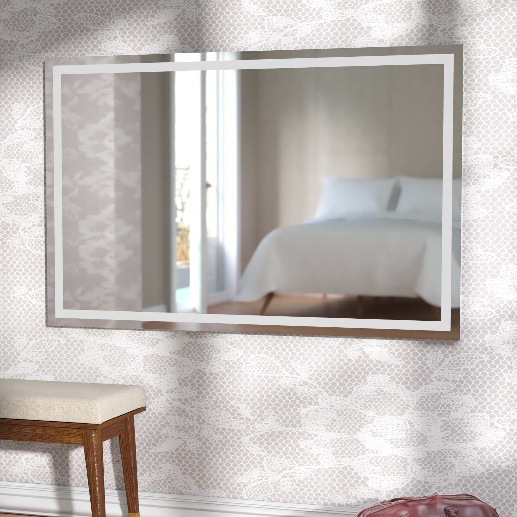 Modern Wade Logan Wall Mirrors | Allmodern With Modern & Contemporary Beveled Overmantel Mirrors (View 19 of 20)