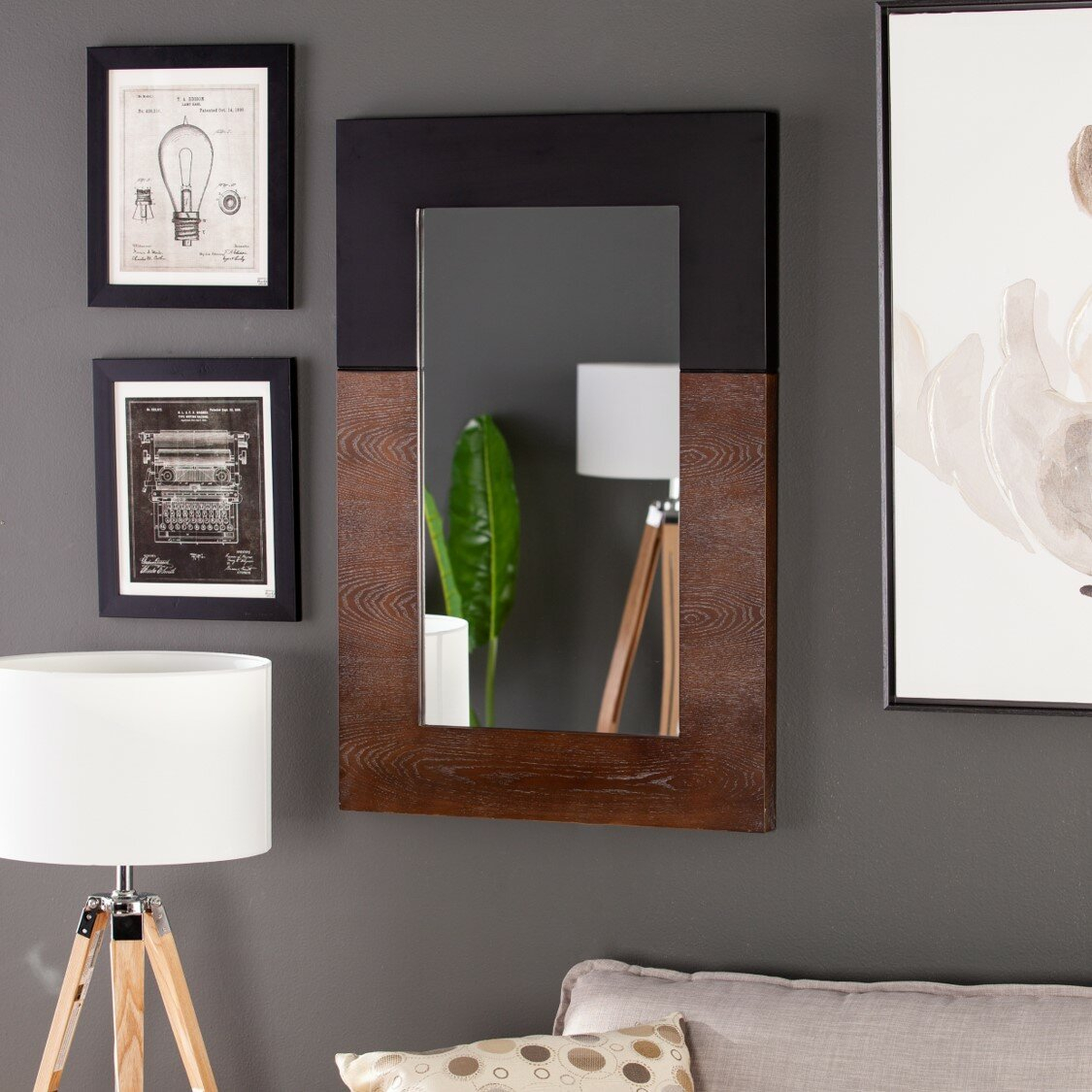 Modern Wood Wall & Accent Mirrors | Allmodern Regarding Booth Reclaimed Wall Mirrors Accent (Image 10 of 20)