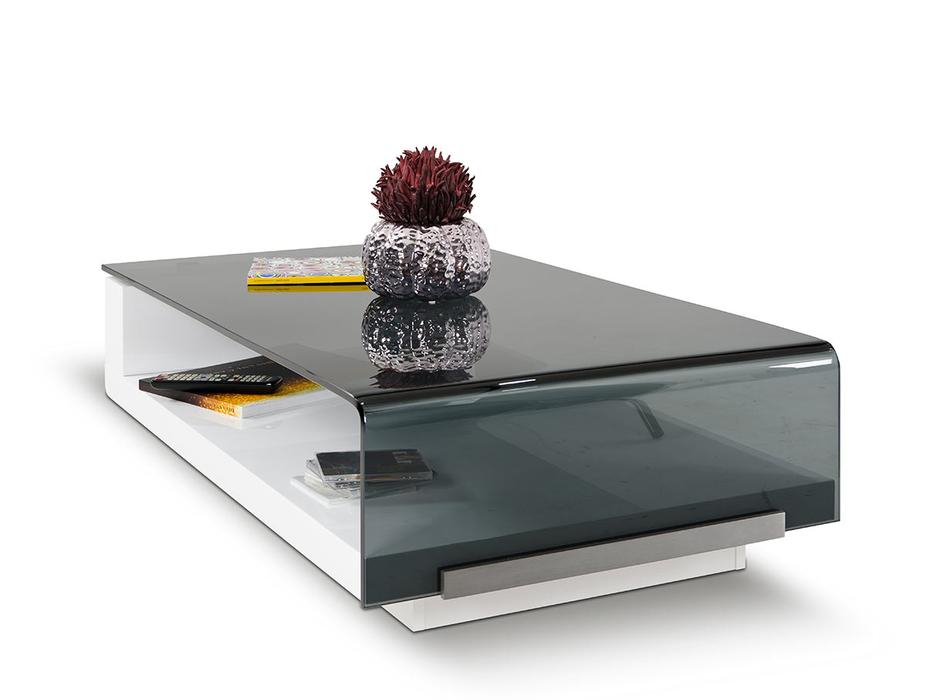 Modrest Tide Modern Glass Coffee Table Dreamlivingscom Regarding Finbar Modern Rectangle Glass Coffee Tables (View 6 of 25)
