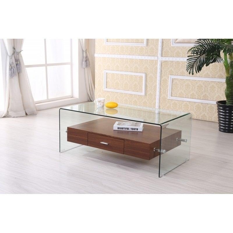 Modrest Tide Modern Glass Coffee Table Dreamlivingscom With Regard To Finbar Modern Rectangle Glass Coffee Tables (View 20 of 25)