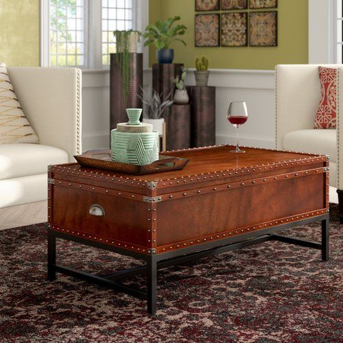 Mojica Coffee Table In 2019 | Steal This Style***home Inside Bellamy Traditional Weathered Peppercorn Storage Coffee Tables (View 14 of 25)