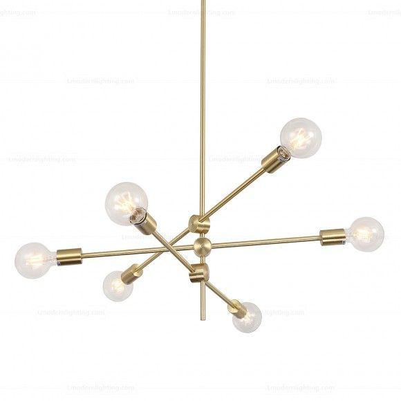 Molecular Suspension Light 6   Designer Reproduction Intended For Eladia 6 Light Sputnik Chandeliers (View 16 of 20)
