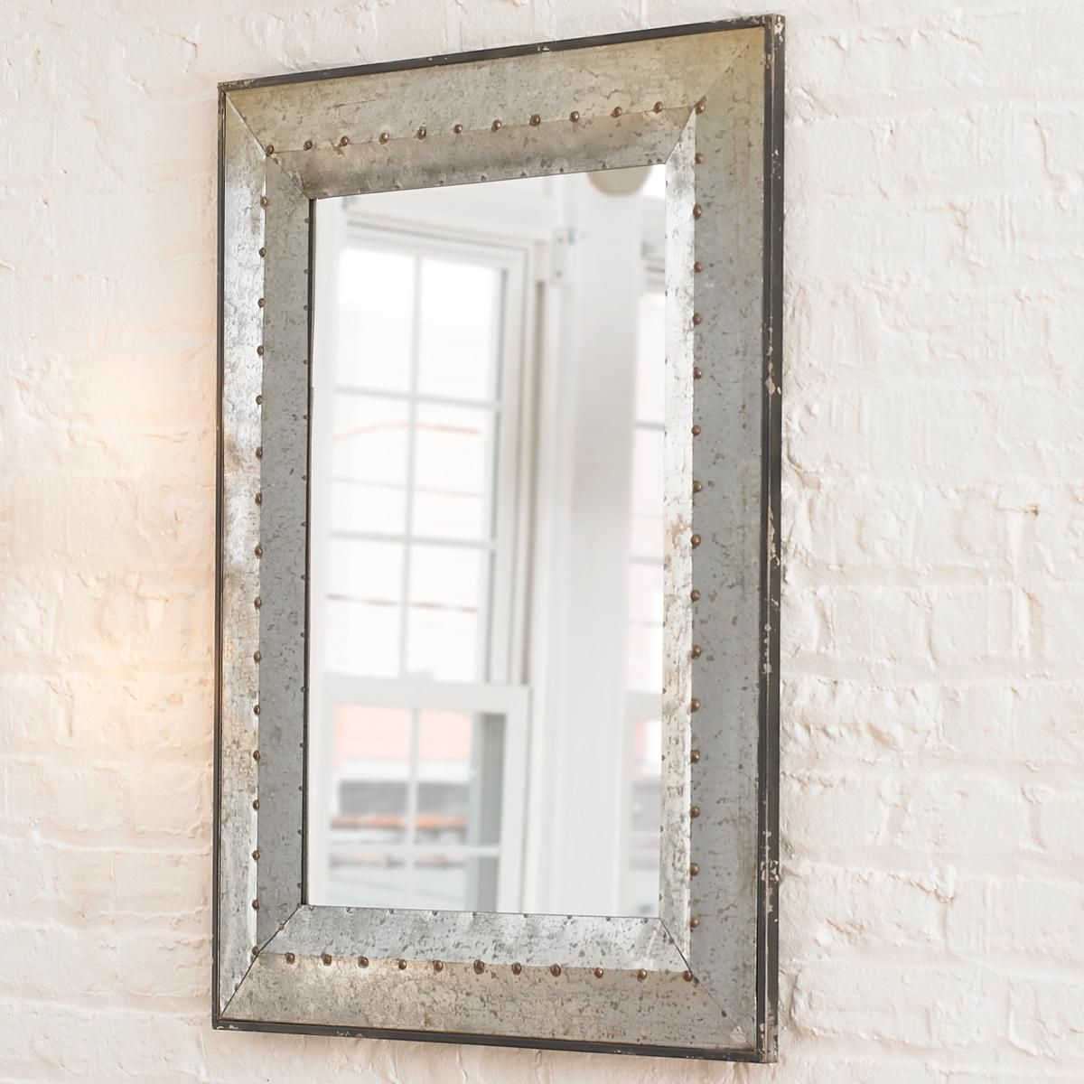 Mordern Minimalist Mirror | Modern Rustic Luxe | Industrial For Booth Reclaimed Wall Mirrors Accent (Image 11 of 20)