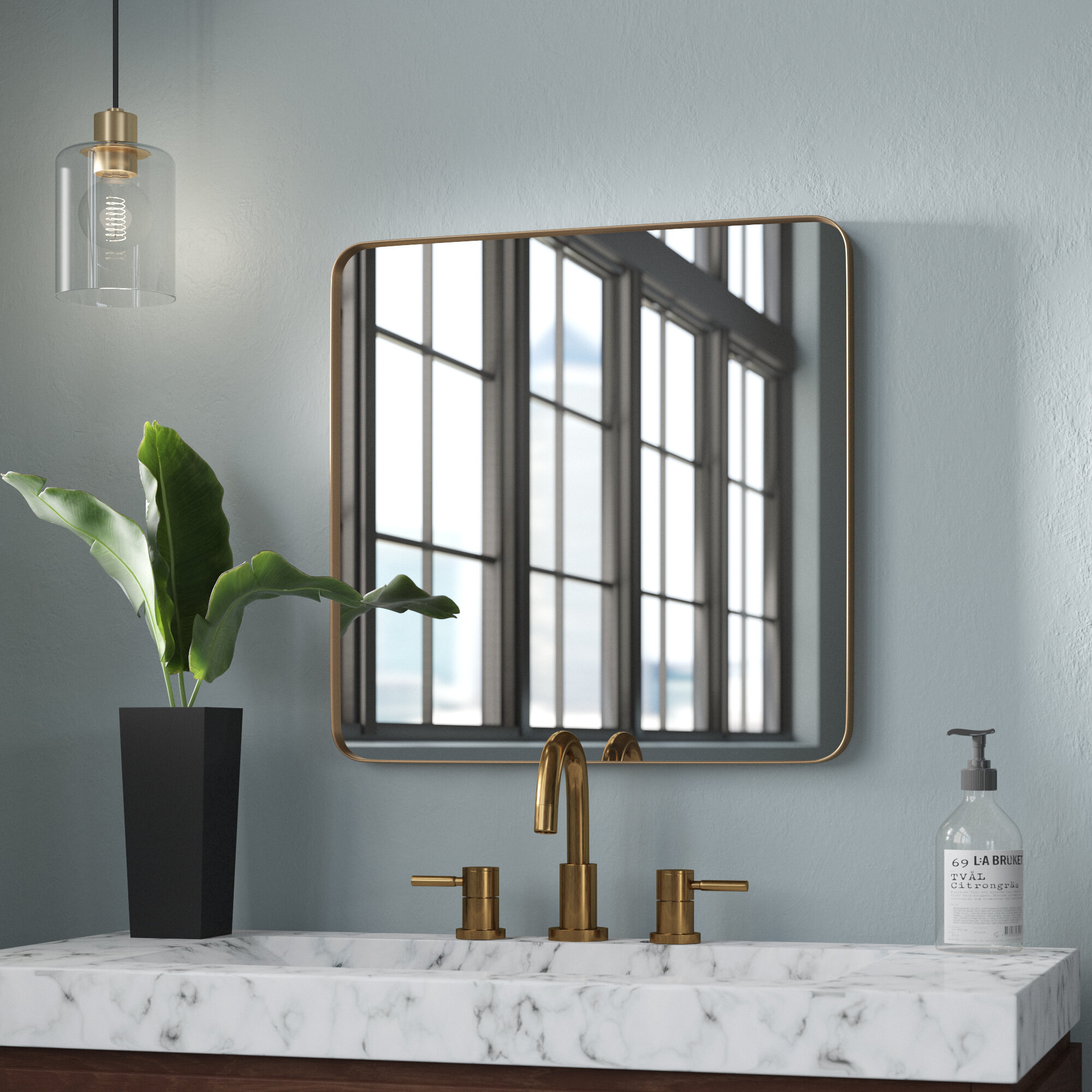 Morita Rectangle Metal Accent Mirror With Lugo Rectangle Accent Mirrors (Image 16 of 20)