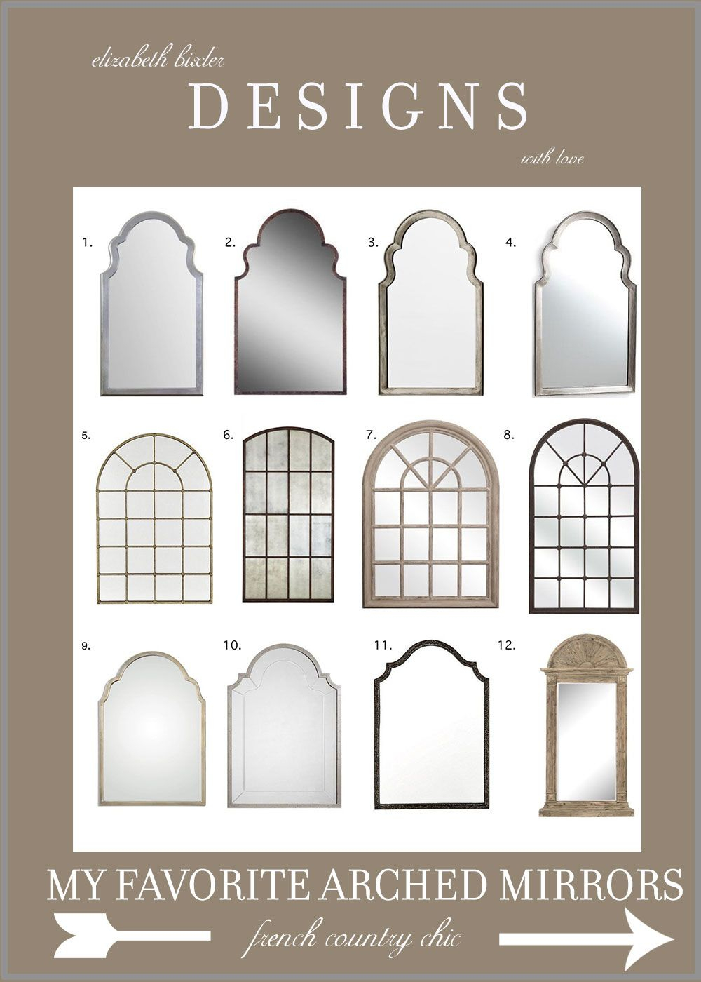 My Favorite Arch Mirrors | | Elizabeth Bixler Designs Intended For Arch Top Vertical Wall Mirrors (Image 18 of 20)
