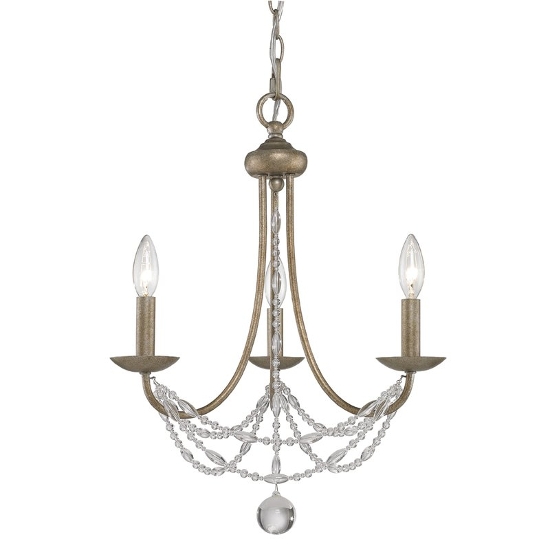 Nantucket 3 Light Candle Style Chandelier With Regard To Berger 5 Light Candle Style Chandeliers (View 8 of 20)