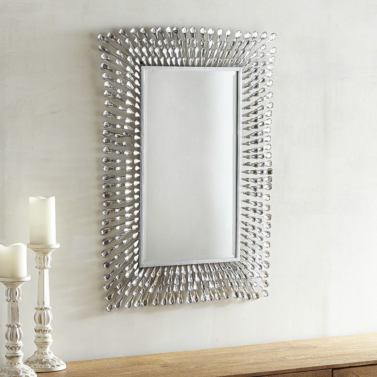 Natalie 24X36 Mirror | Products | Mirror, Sun Mirror Within Caja Rectangle Glass Frame Wall Mirrors (View 11 of 20)