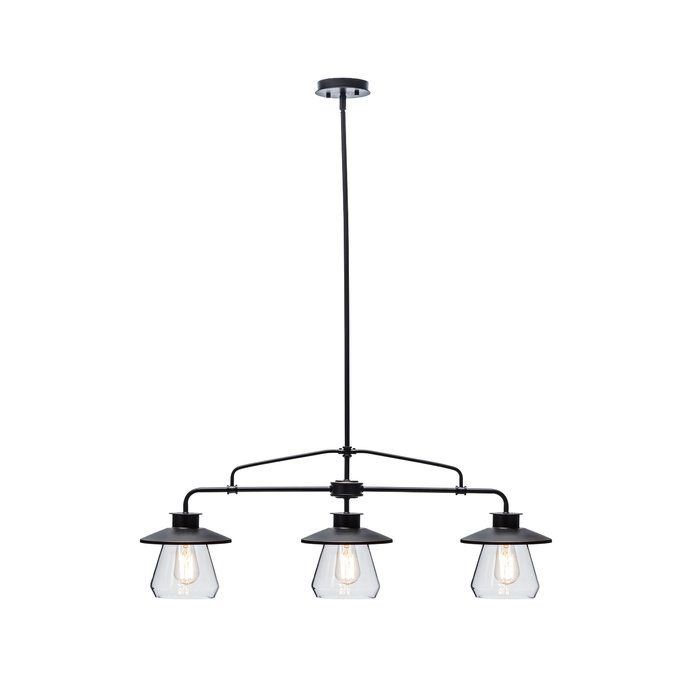 Nate 3 Light Kitchen Island Linear Pendant In 2019 For Jefferson 4 Light Kitchen Island Linear Pendants (View 17 of 25)
